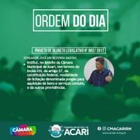 A Câmara Municipal de Acari divulga a Ordem do Dia da 15ª Sessão Ordinária