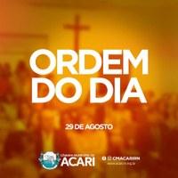 A Câmara Municipal de Acari divulga a Ordem do Dia da 3ª Sessão Ordinária do 2º Período Legislativo