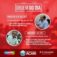 A Câmara Municipal de Acari divulga a Ordem do Dia da 4ª Sessão Ordinária