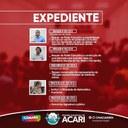 A Câmara Municipal de Acari divulga a seguir a matéria que dará entrada no Expediente da 1ª Sessão Ordinária do 1º período legislativo de 2019
