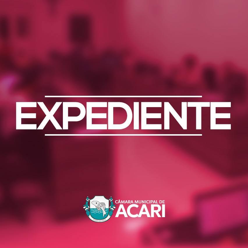A Câmara Municipal de Acari divulga a seguir as matérias que darão entrada no Expediente da 10ª Sessão Ordinária