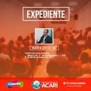 A Câmara Municipal de Acari divulga a seguir as matérias que darão entrada no Expediente da 17ª Sessão Ordinária