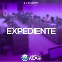 A Câmara Municipal de Acari divulga a seguir as matérias que darão entrada no Expediente da 19ª Sessão Ordinária