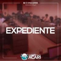 A Câmara Municipal de Acari divulga a seguir as matérias que darão entrada no Expediente da 20ª Sessão Ordinária,