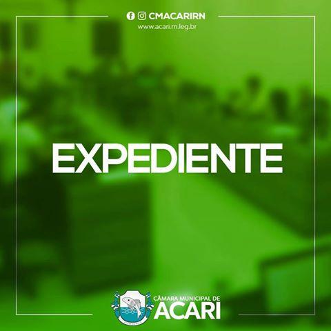A Câmara Municipal de Acari divulga a seguir as matérias que darão entrada no Expediente da 21ª Sessão Ordinária, que acontece nesta terça-feira (04)