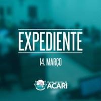 A Câmara Municipal de Acari divulga a seguir as matérias que darão entrada no Expediente da próxima Sessão Ordinária, que ocorrerá hoje (14 de março)