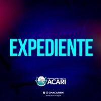A Câmara Municipal de Acari divulga a seguir as matérias que darão entrada no Expediente