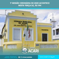 A Câmara Municipal de Acari retoma suas atividades legislativas nesta terça-feira (04) com a primeira sessão ordinária de 2020.