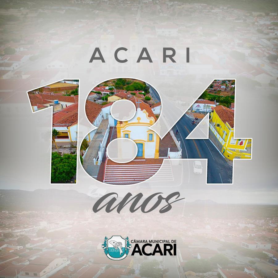 A cidade de Acari celebra no dia 11 de Abril os seus 184 anos de Emancipação Política.