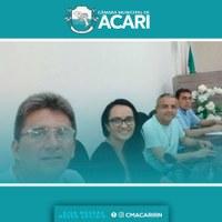 Aconteceu na tarde desta quinta-feira (20) mais uma reunião da Comissão especial para tratar da Revisão do Regimento Interno da Câmara Municipal de Acari.