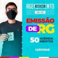 AGENDAMENTOS ON-LINE PARA EMISSÃO DE RG