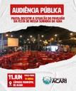 AUDIÊNCIA PÚBLICA VAI DEBATER SITUAÇÃO DO PAVILHÃO DA FESTA DE NOSSA SENHORA DA GUIA.