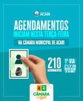 CÂMARA CIDADÃ: AGENDAMENTOS PARA EMISSÃO DO RG NO MÊS DE JULHO INICIAM NESTA TERÇA-FEIRA