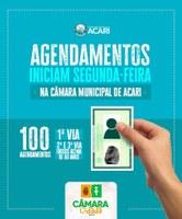 CÂMARA CIDADÃ: AGENDAMENTOS PARA EMISSÃO DO RG NO MÊS DE JUNHO INICIAM NA PRÓXIMA SEGUNDA-FEIRA.