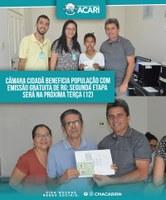 CÂMARA CIDADÃ BENEFICIA POPULAÇÃO COM EMISSÃO GRATUITA DE RG; SEGUNDA ETAPA SERÁ NA PRÓXIMA TERÇA (12)