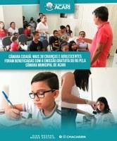 CÂMARA CIDADÃ: MAIS 38 CRIANÇAS E ADOLESCENTES FORAM BENEFICIADAS COM A EMISSÃO GRATUITA DO RG PELA CÂMARA MUNICIPAL DE ACARI