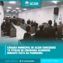 CÂMARA MUNICIPAL DE ACARI CONCEDERÁ 18 TÍTULOS DE CIDADANIA ACARIENSE DURANTE FESTA DA PADROEIRA