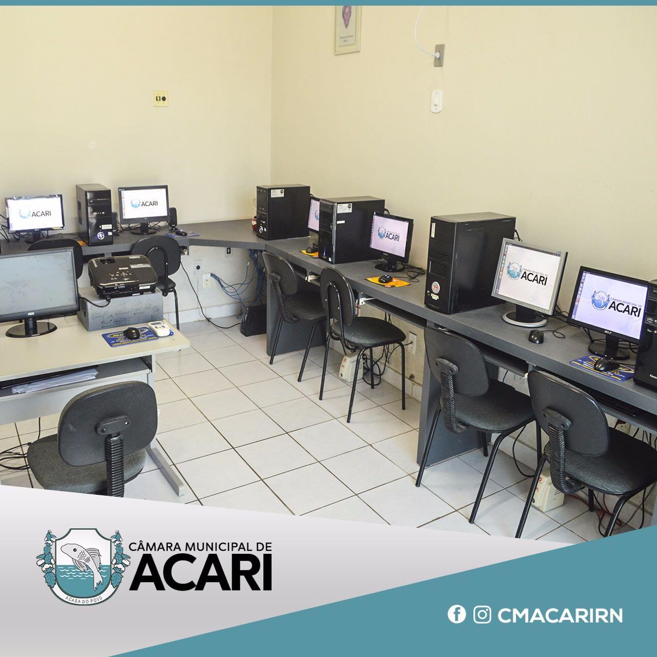 CÂMARA MUNICIPAL DE ACARI DIVULGA TURMAS PARA CURSO DE OPERADOR DE COMPUTADOR