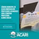 CÂMARA MUNICIPAL DE ACARI HOMENAGEARÁ PROFESSORES ACARIENSES COM A COMENDA PROFESSORA ALMIRA ARAÚJO