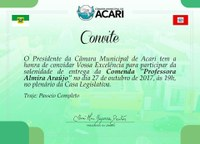 CÂMARA MUNICIPAL DE ACARI HOMENAGEARÁ PROFESSORES