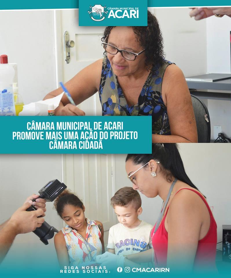 CÂMARA MUNICIPAL DE ACARI PROMOVE MAIS UMA AÇÃO DO PROJETO CÂMARA CIDADÃ