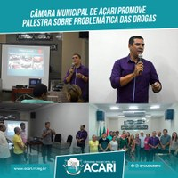 CÂMARA MUNICIPAL DE ACARI PROMOVE PALESTRA SOBRE PROBLEMÁTICA DAS DROGAS