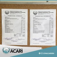 Câmara Municipal de Acari promove transparência pública