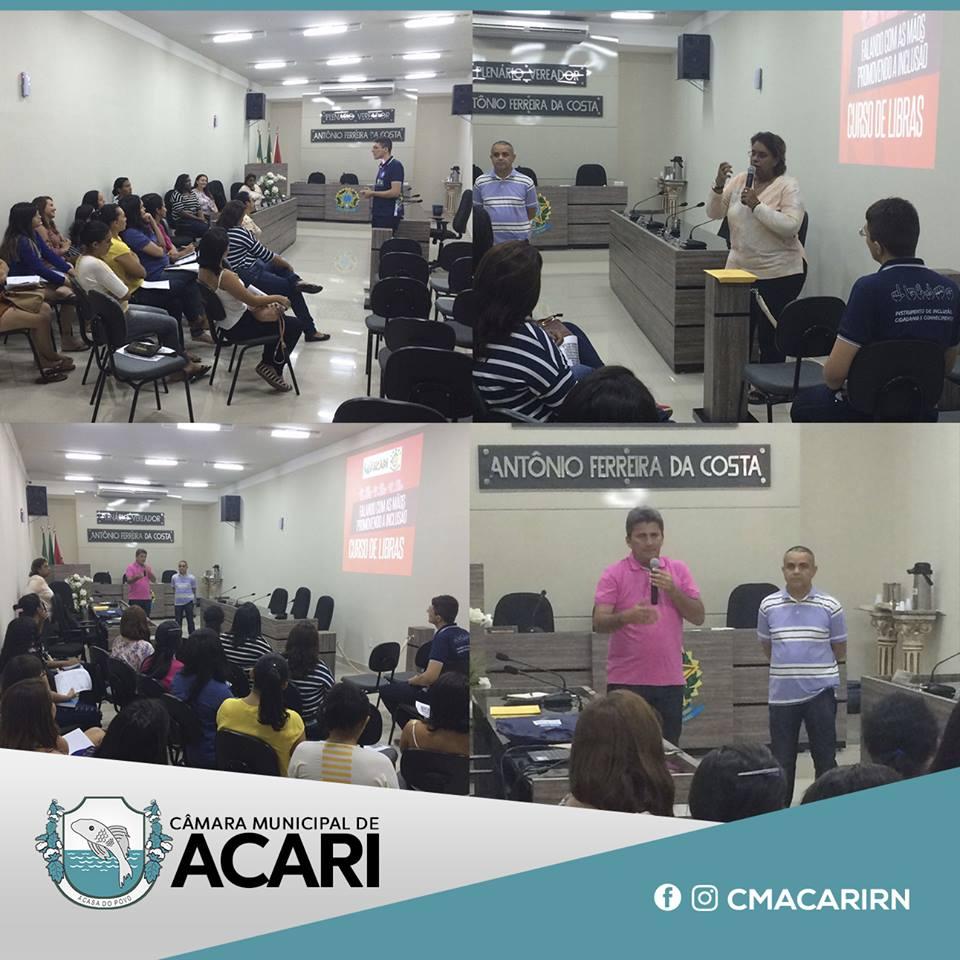 CÂMARA MUNICIPAL DE ACARI REALIZA AULA INAUGURAL DO CURSO DE LIBRAS