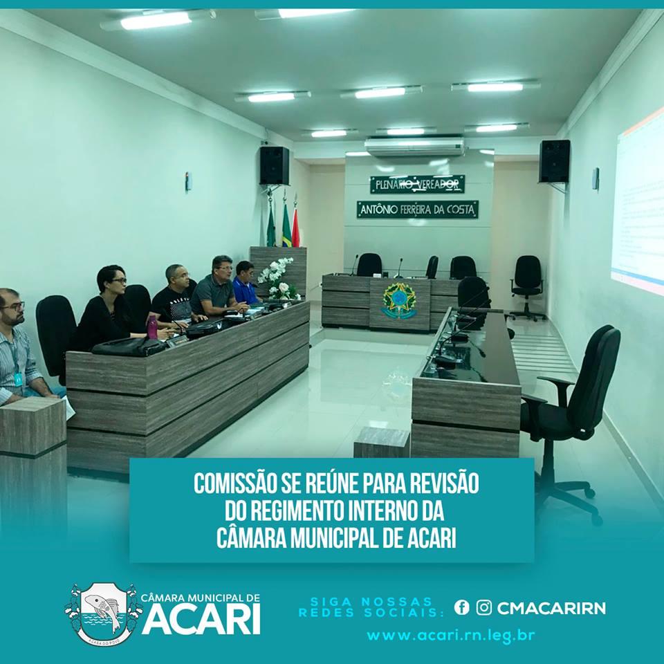 COMISSÃO SE REÚNE PARA REVISÃO DO REGIMENTO DA CÂMARA MUNICIPAL DE ACARI