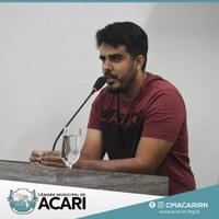 COORDENADOR DE ENDEMIAS FAZ ESCLARECIMENTOS NA SESSÃO DA CÂMARA MUNICIPAL DE ACARI
