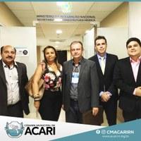 EM BRASÍLIA, VEREADORES PARTICIPAM DE AUDIÊNCIA NO DNOCS E GARANTEM RECURSO PARA CONCLUSÃO DA ADUTORA