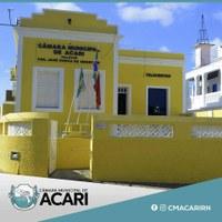 EM VIRTUDE DO FERIADO, SESSÃO DA CÂMARA MUNICIPAL DE ACARI SERÁ QUARTA-FEIRA (04)
