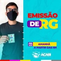 EMISSÃO DE RG