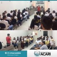 ESTUDANTES DE SÃO JOÃO DO SABUGI VISITAM AS INSTALAÇÕES DA CÂMARA MUNICIPAL DE ACARI