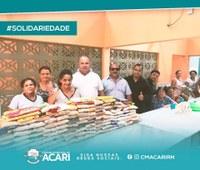 José Rivaldo (Bada), realizou na tarde desta sexta-feira (29), juntamente com o vereador Armando Etelvino, a entrega de dezenas de quilos de alimentos não perecíveis ao Abrigo dos Idosos de Acari.