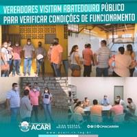 Na manhã desta quarta-feira (23), os vereadores da Câmara Municipal de Acari visitaram o Abatedouro Público