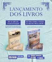 Na próxima sexta-feira (09), logo após a solenidade de entrega da Comenda do Mérito Histórico-Cultural Paulo Frassinete Bezerra (Paulo Balá), haverá lançamento de livros na Câmara Municipal de Acari.