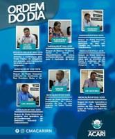 Ordem do Dia da 7ª Sessão Ordinária do 1ºPeríodo Legislativo de 2019