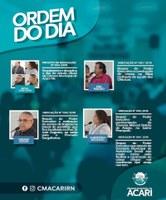 Ordem do Dia da sua próxima Sessão Ordinária, que ocorrerá nesta terça-feira, 10/Setembro