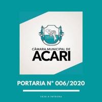 PORTARIA Nº 006/2020