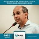 PREFEITO FERNANDO ANTÔNIO BEZERRA REALIZOU A LEITURA DA MENSAGEM ANUAL NA CÂMARA MUNICIPAL DE ACARI
