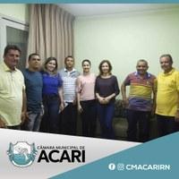 PRESIDENTE DA CÂMARA PARTICIPA DE REUNIÃO COM O CONSELHO MUNICIPAL ANTIDROGAS E ENTORPECENTES DE ACARI