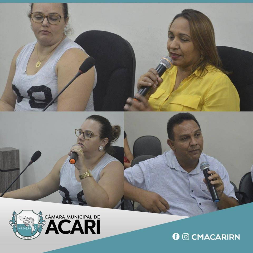 SECRETARIA DE SAÚDE APRESENTA PRESTAÇÃO DE CONTAS NA CÂMARA MUNICIPAL DE ACARI