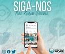 Siga-nos nas redes sociais e fique por dentro das ações da Câmara Municipal de Acari. 📱