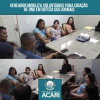 VEREADOR MOBILIZA VOLUNTÁRIOS PARA CRIAÇÃO DE ONG EM DEFESA DOS ANIMAIS
