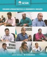 VEREADORES APROVAM PROJETOS DE LEI, REQUERIMENTO E INDICAÇÕES