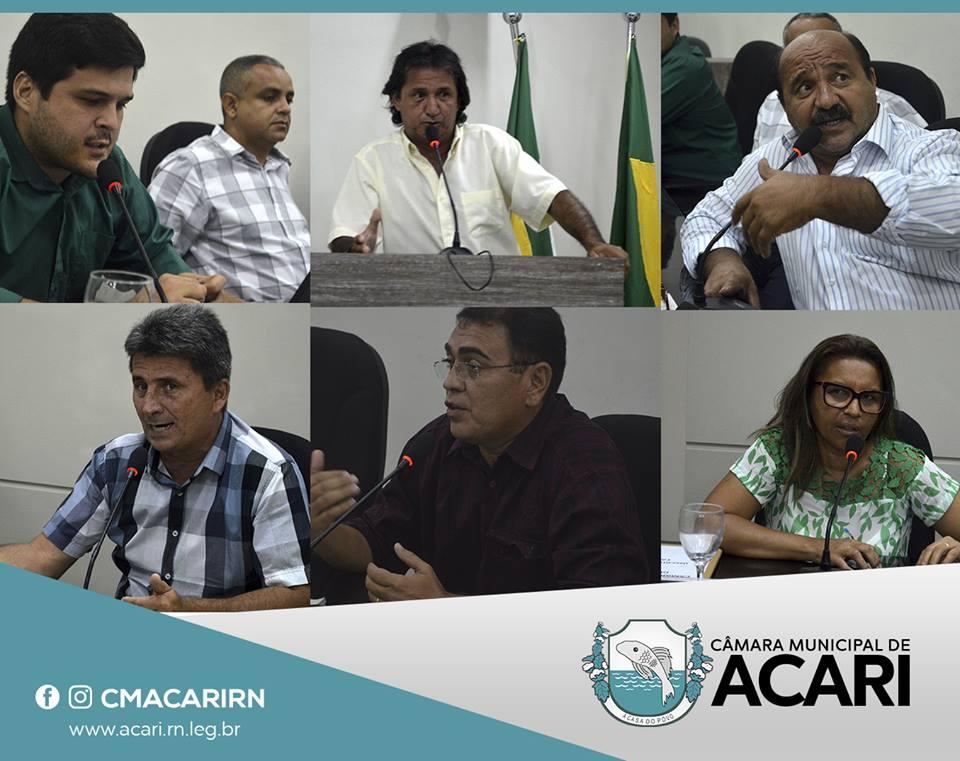 VEREADORES DEBATEM SITUAÇÃO DO ABASTECIMENTO D'ÁGUA DE ACARI