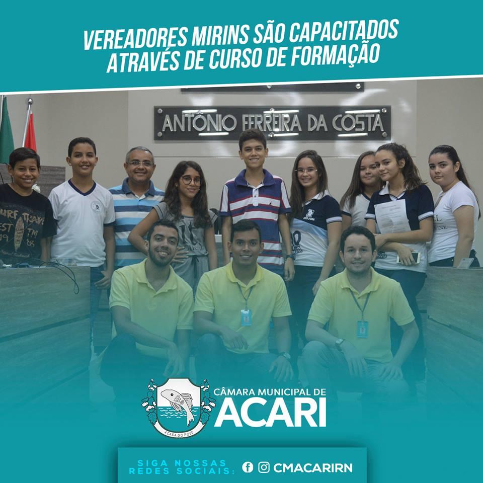VEREADORES MIRINS SÃO CAPACITADOS ATRAVÉS DE CURSO DE FORMAÇÃO .