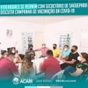 VEREADORES SE REÚNEM COM SECRETÁRIO DE SAÚDE PARA DISCUTIR A CAMPANHA DE VACINAÇÃO DA COVID-19