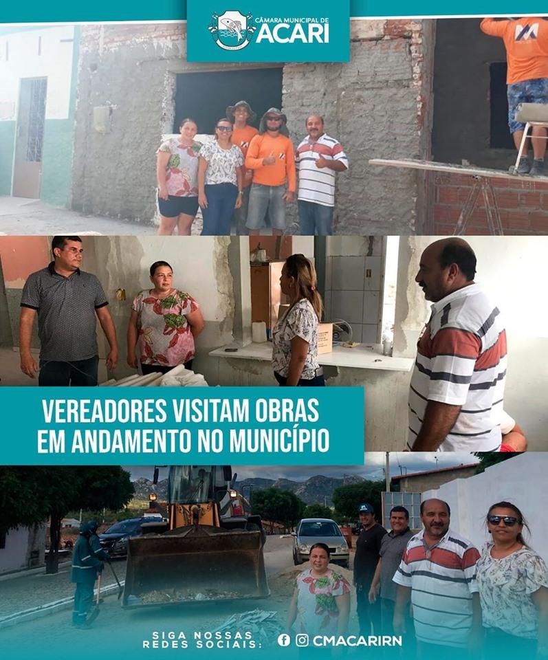 VEREADORES VISITAM OBRAS EM ANDAMENTO NO MUNICÍPIO.